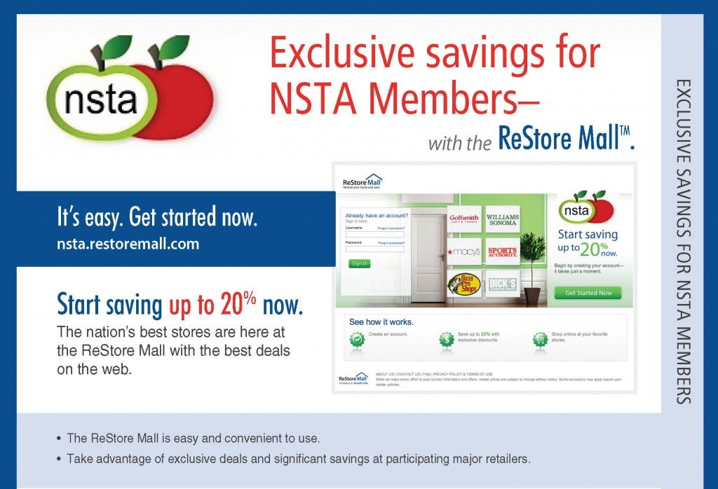 NSTA ReStore Mall Image with savings information